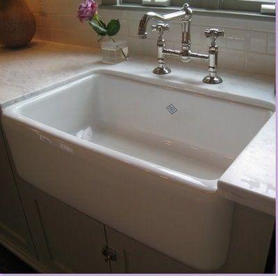 CorianCountertops With Farm House Sink | Inset Farmhouse Sink With Corian  Countertops. | Kitchens