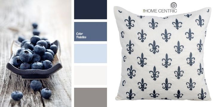 Cold gray, white & blue go together perfectly. These colors are perfect for decoration of bedrooms.