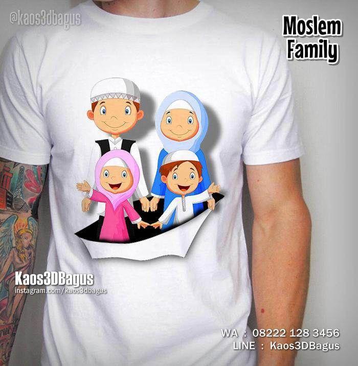 Kaos Keluarga Muslim, Kaos3D, Moslem Family, Kaos Religi Islam, Kaos Lucu, https://instagram.com/kaos3dbagus, WA : 08222 128 3456, LINE : Kaos3DBagus