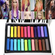 24 kleuren/set fashion haar krijt fashion kleur haar krijt dye pastels tijdelijke pastel hair extension dye krijt hot kleurpotloden(China (Mainland))