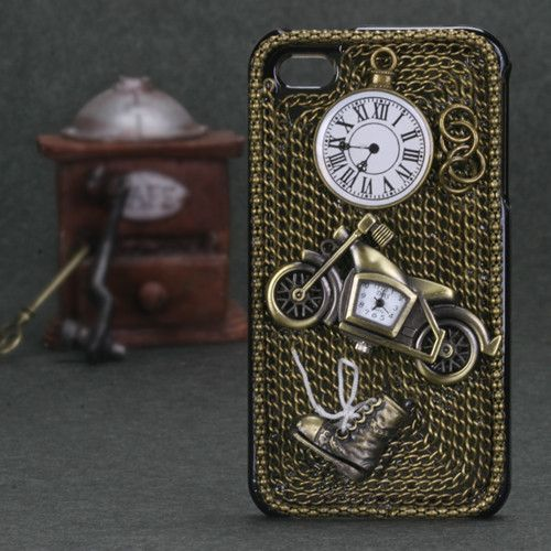 Collectible 3D Decoden Diamante iPhone 4/4S Case - Time to Ride