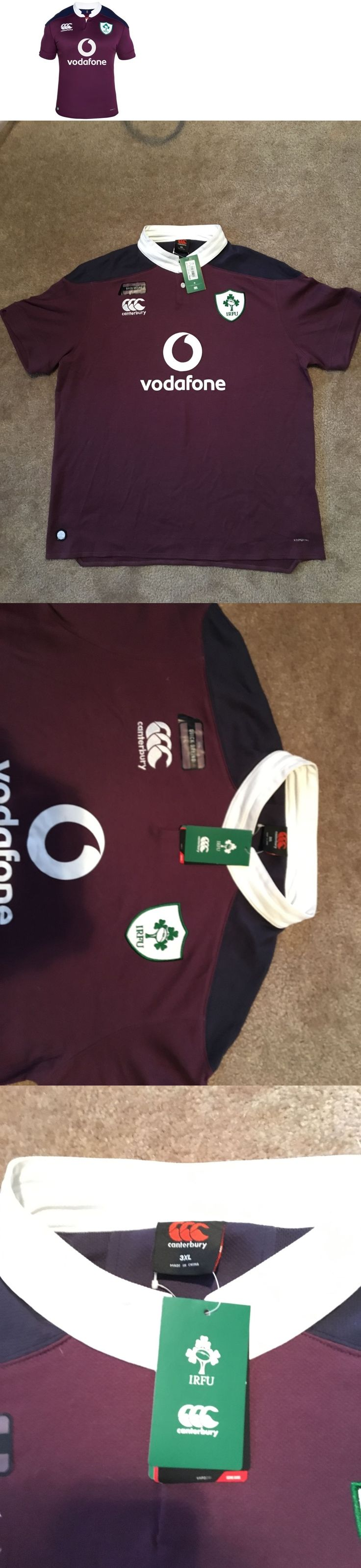 Rugby 21563: Official Canterbury Ireland Rugby Jersey Maroon Plum 3Xl Nwt BUY IT NOW ONLY: $50.0