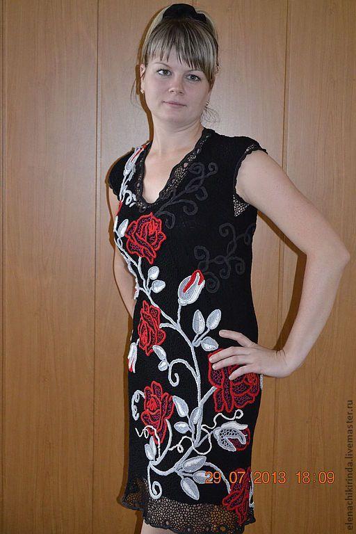 """Платье """"Розы ночи"""" - Елена Чикиринда (ELENACHIKIRINDA) - Ярмарка Мастеров http://www.livemaster.ru/item/3904497-odezhda-plate-rozy-nochi"""