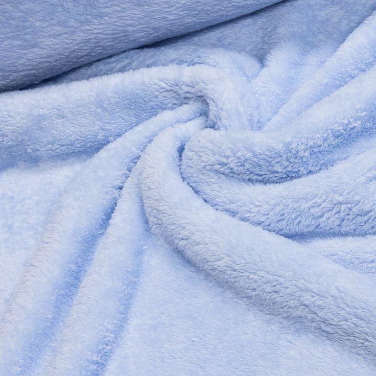 Mikroplyš / coral fleece 021 jednobarevná světle modrá, š.175cm (látka v metráži) | Internetový obchod Chci Látky.cz