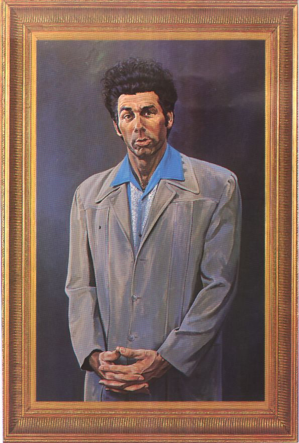 He is a loathsome, offensive brute, yet I can't look away. He transcends time and space. He sickens me. I love it. The Kramer. For our wall @hannahnoelle95