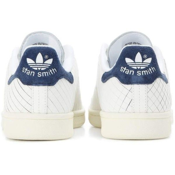 Adidas Originals Stan Smith Sneakers (1,745 MXN) ❤ liked on Polyvore featuring shoes, sneakers, blue sneakers, navy blue and white shoes, adidas originals trainers, adidas originals and adidas originals shoes