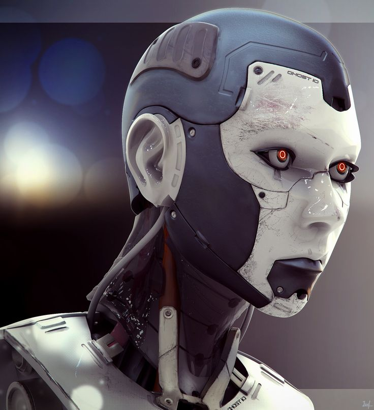 Cyborg Female Composite by Lance Wilkinson http://www.pinterest.com/carbone3d/robot/