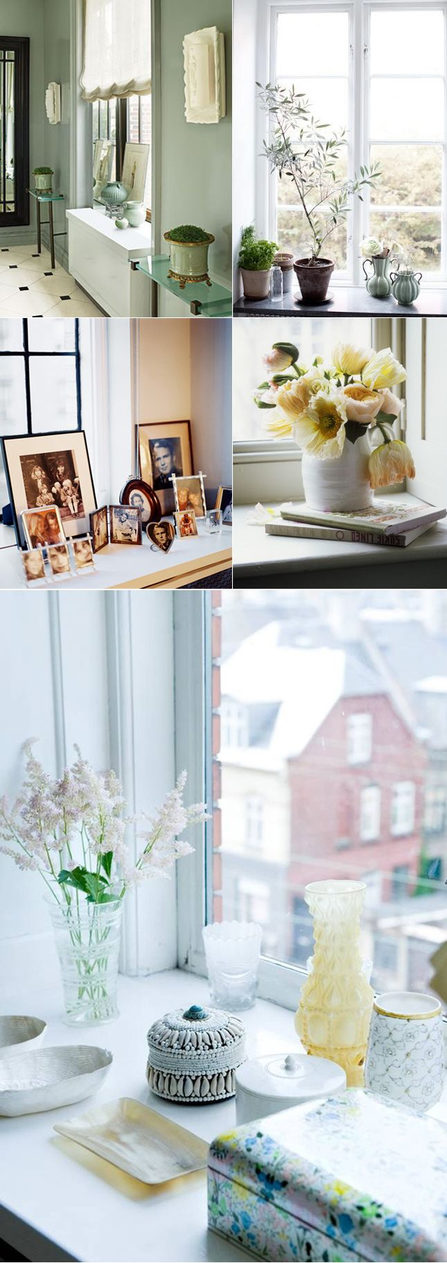 Styling inspiration for the windowsill