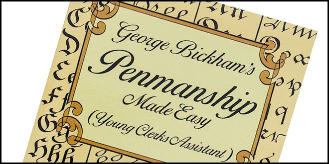 Young Clerks Assistant George Bickhams Penmanship Made Easy