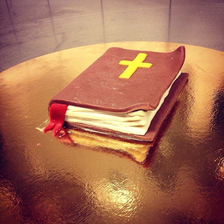 A bible I did for a customer.  It's done in marzipan.