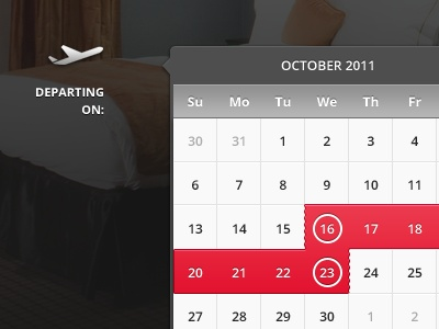 Web interface: date picker