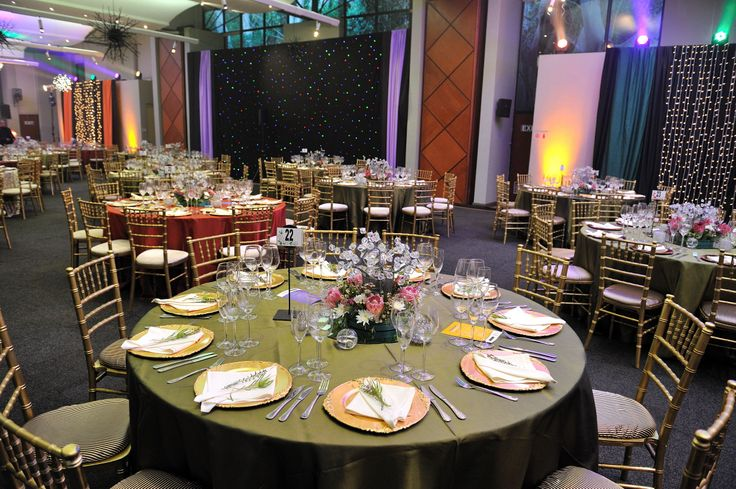 Tables and backdrop