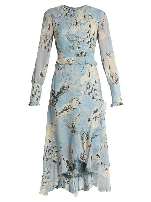 Erdem Meg silk-voile dress