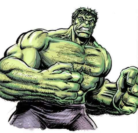 Movie style Hulk sketch.