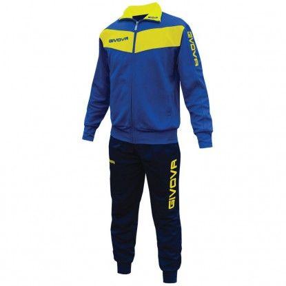 Costum sport de copii GIVOVA - galben-albastru