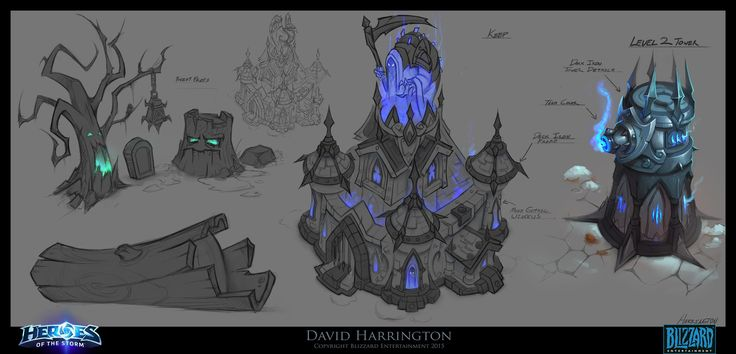 ArtStation - Heroes Of The Storm - Towers Of Doom - Keeps And Towers - Concept Art, David Harrington