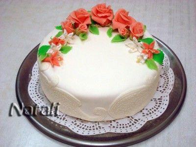 Торт-рулет с творожно-малиновым кремом