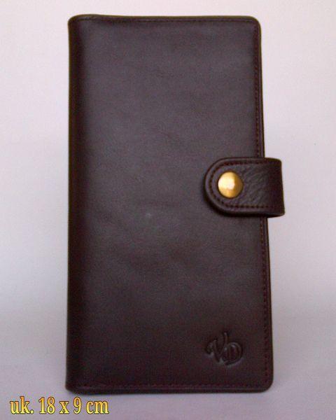 Dompet kulit asli wanita P-16 coklat lidah kuncian