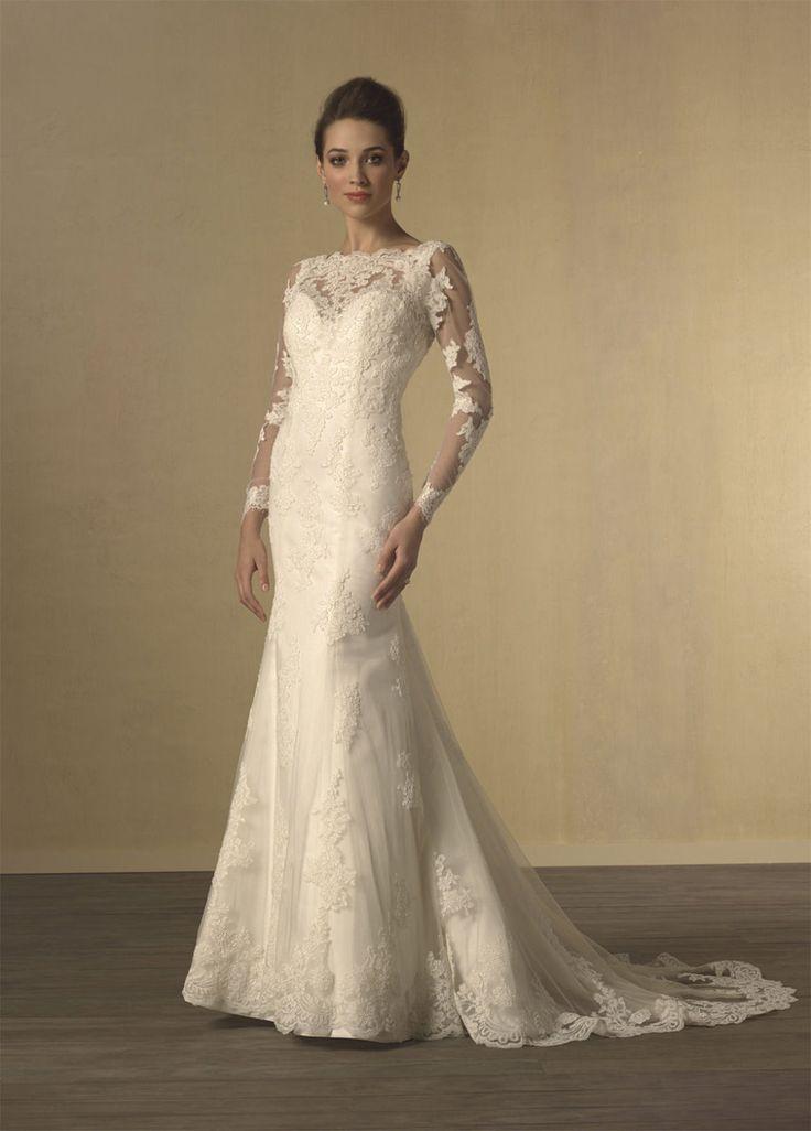 Alfred Angelo's Long Sleeve Wedding Dress - Twilight Wedding Dress – Get the Look - EverAfterGuide