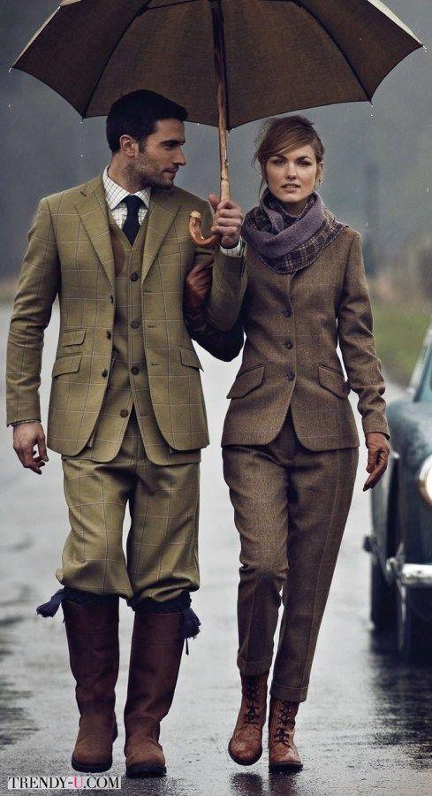 Психология личного пространства http://psychologieshomo.ru Мужской и женский твидовый костюм.