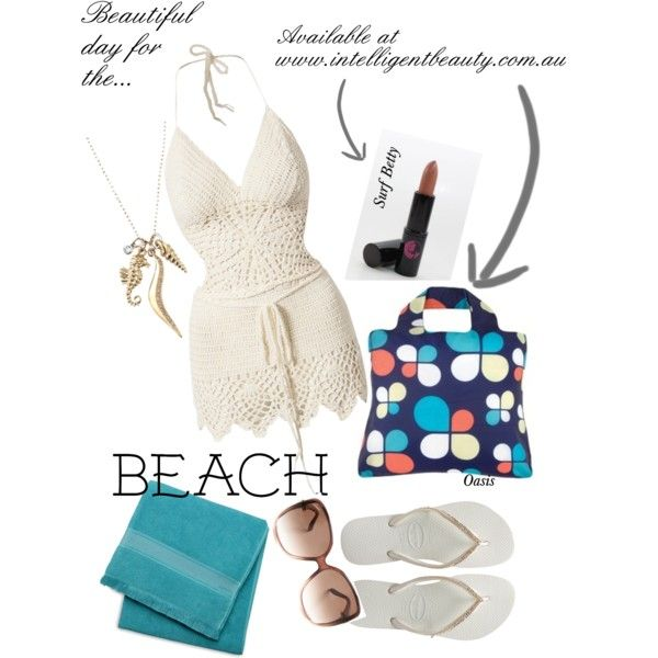 """Beautiful Day for the Beach"" by intelligentbeauty-australia on Polyvore"
