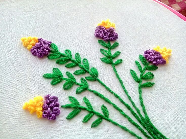 Hand Embroidery - Floral Embroidery Design ~ French Knot