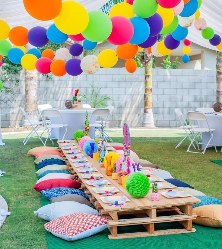 Kidchella Geburtstagsfeier Ideen Festival Themed Party Backyard