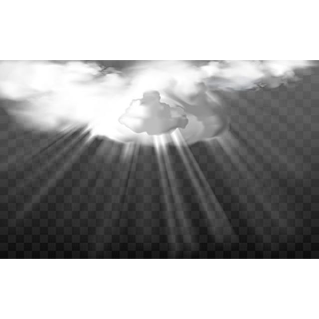 Vector Rays Through White Fluffy Clouds Realistic Ray Light Png And Vector With Transparent Background For Free Download In 2020 Clouds Cloud Vector White Painting