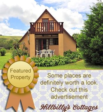 Hillbilly's Cottages Self Catering Holiday Accommodation - ChampagneValley, Drakensberg Situated on a working farm in the Champagne Valley, the property driveway is lined with a pecan nut trees, and the Champagne mountain range provides an exquisite and dramatic backdrop to the cottages.