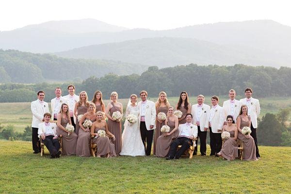 classic bridal party | Patricia Lyons #wedding
