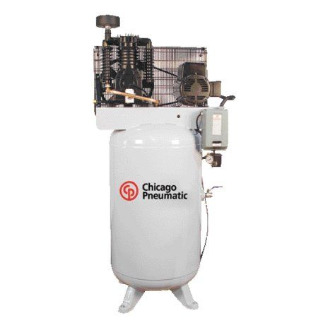 Compressor 5 HP Single Phase 80 Gal Vertical Tank, Multicolor