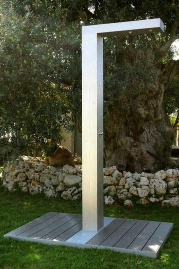 Ducha exterior para piscinas de hm hidromasajes www for Duchas para piscina