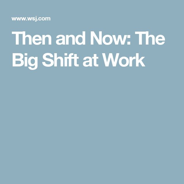 Then and Now: The Big Shift at Work