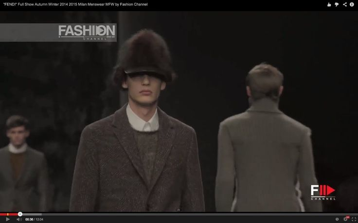 """FENDI"" Full Show Autumn Winter 2014 2015 Milan Menswear MFW by Fashion ..."