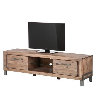 buffet bas tv zenta bois massif acacia salon pinterest buffet. Black Bedroom Furniture Sets. Home Design Ideas