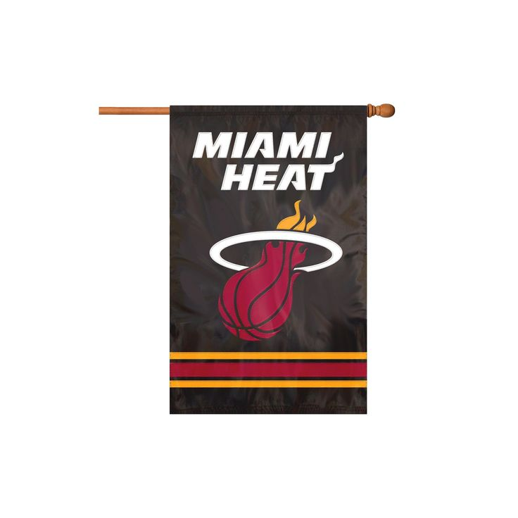 NBA Applique Party Banner Flag Miami Heat