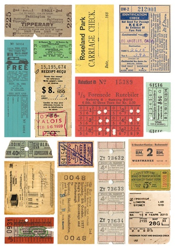 Rubbings: Color: Tickets picture