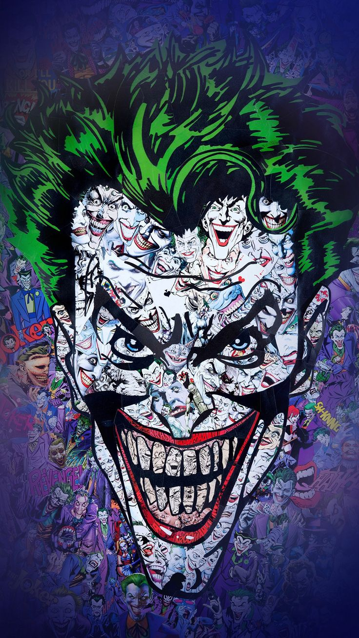 Joker Art Face Illustration IPhone 6 Wallpaper
