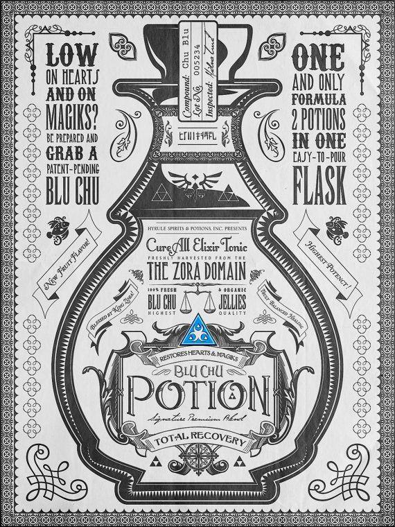 Affiches publicitaires pour trois potions de la licence Zelda - SerialButcher's Blog - Gameblog.fr