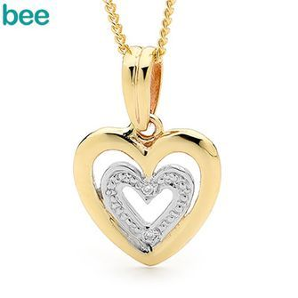 Buy E11 - Diamond Set Heart Pendant (BEE-65410) online at Chain Me Up