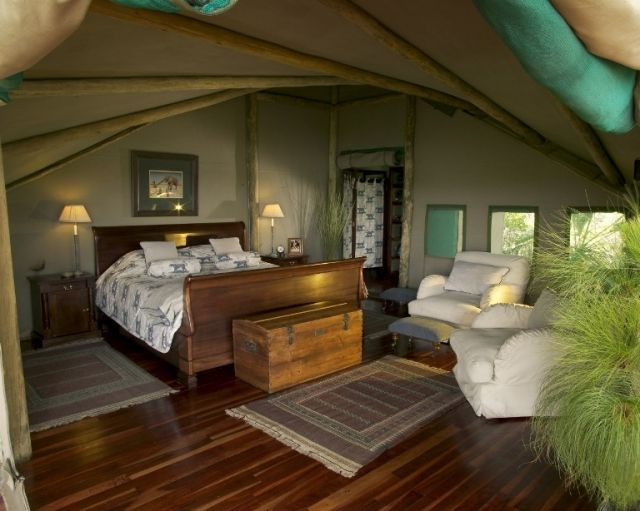 Abu Camp in the heart of the Okavango Delta.  http://www.africanwelcome.com/botswana/botswana-private-game-lodges/abu-camp-botswana