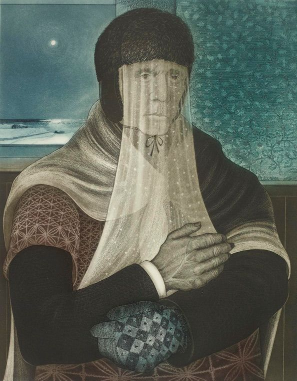 "David Blackwood-""Lone Mummer Inside"" 1979"