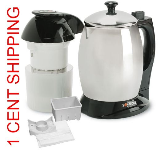 I use the #Soyabella SB132 #SoymilkMaker mostly for making almond milk and grinding flax seeds. it will make hot water for instant soups and so much more. http://www.veggiesensations.com/collections/soymilk-makers/products/soybella-soymilk-maker-and-tofu-kit-sb-132