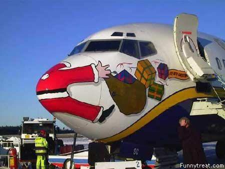 Wishing Santa a safe flight on his worldly travels! LOL