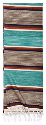 Southwestern Blanket   Shawls and Wraps   Vintage Style Serape in Turquoise