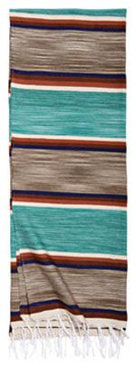 Southwestern Blanket | Shawls and Wraps | Vintage Style Serape in Turquoise