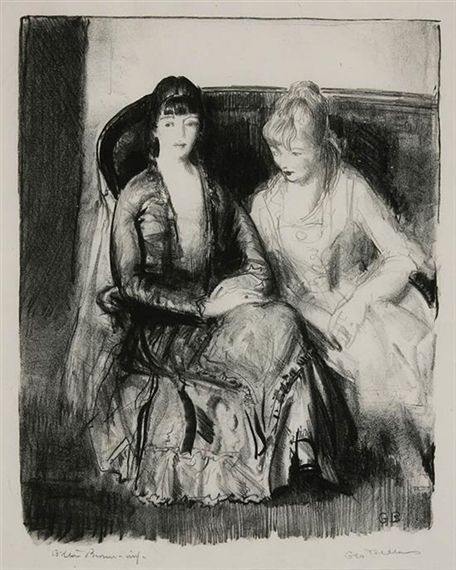 George Bellows Emma And Marjorie On Sofa 1921