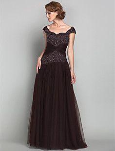 una línea de correas princesa madre de Tulle del vestido de ... – CLP $ 112.678