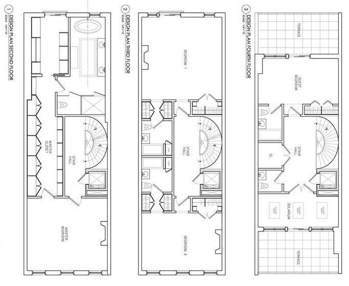 Stuy Town 2 Bedroom Floor Plan: 14 Best Brownstone Floorplans Images On Pinterest