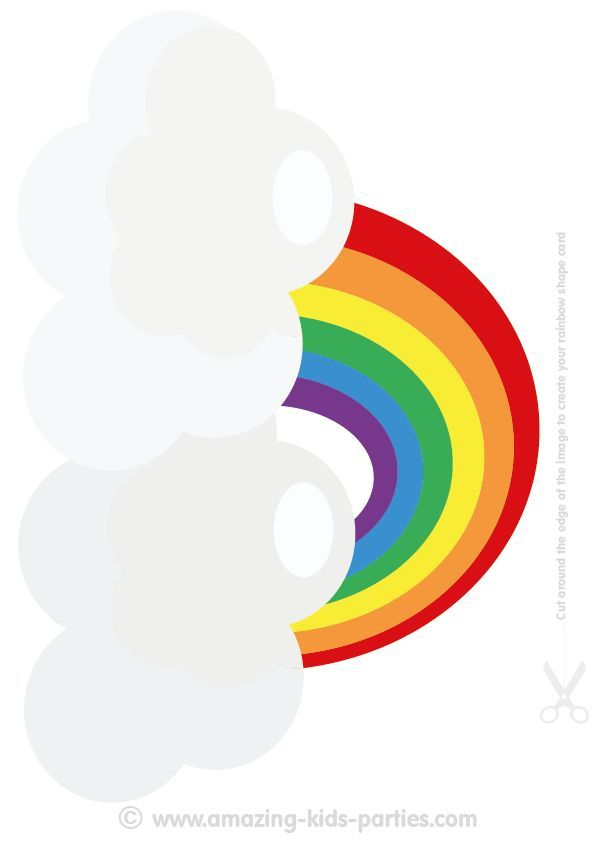 graphic about Free Printable Rainbow named Youll discover plenty of Pleasurable Absolutely free Printable Rainbow Decorations